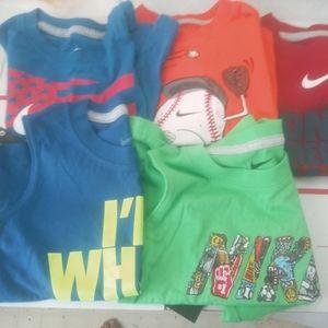 Nike boys t-shirts nwt bundle lot of 5